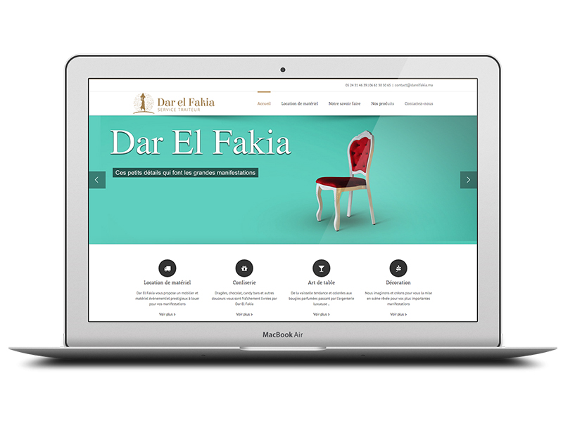 Site web Dar el Fakia Wordpress